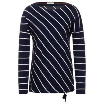 Lässiges Shirt mit Streifen Muster von CECIL