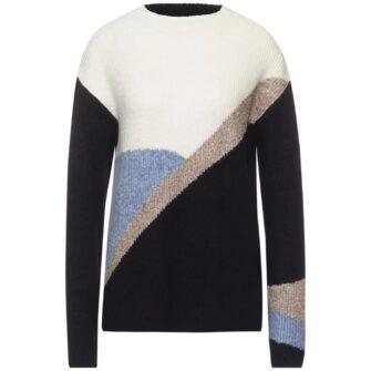 Pullover mit Colourblock und Stehkragen