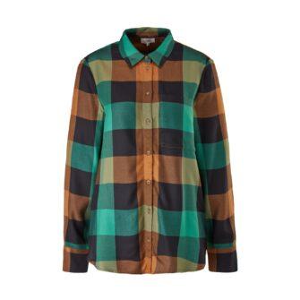 Sportive Karo-Bluse in angesagten Herbstfarben
