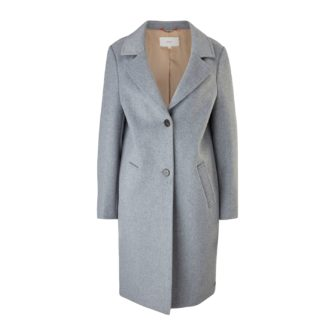 Klassischer Mantel im weichen Wollmix