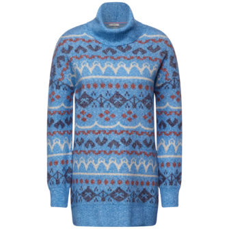 Langer Pullover im Norweger Style
