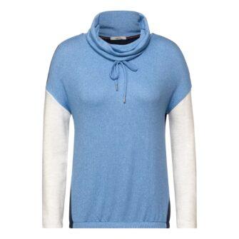 CECIL Shirt mit Rollneck und Colourblock