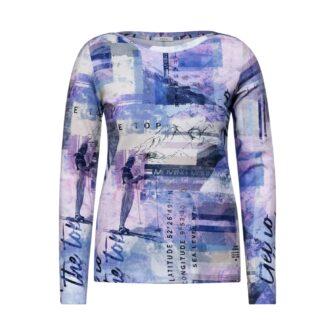 CECIL Shirt mit Print und U-Boot-Ausschnitt
