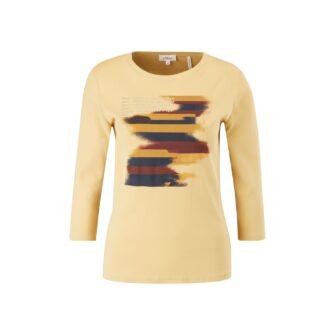 Jerseyshirt mit Frontprint und 3/4 Arm